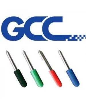 Pack 3 cuchillas 45º GCC para textos pequeños 3mm. Capuchon negro. 0,175mm offset