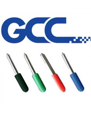 Pack 3 cuchillas 45º GCC para vinilo grueso. Capuchon rojo. 0,5mm offset