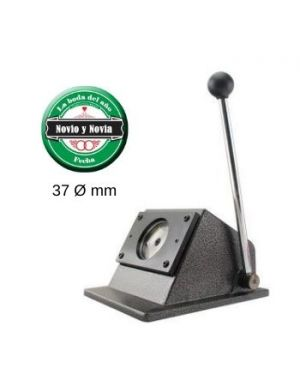 Troqueladora para chapas redondas de 37mm.