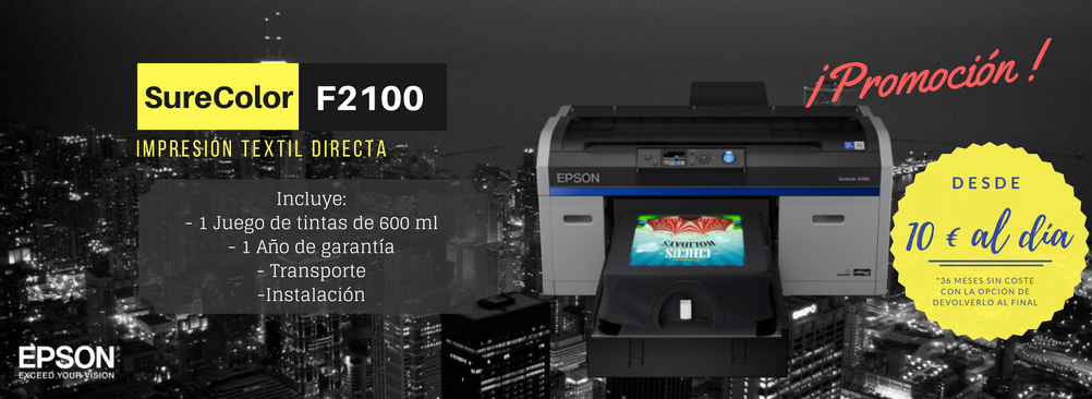 Epson SC-F2100 impresion directa de camisetas
